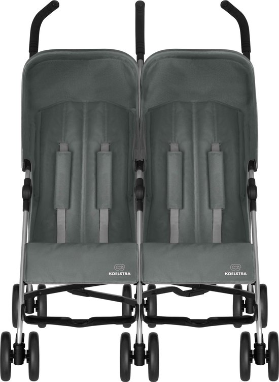 Koelstra Simba Twin T4 - Duo buggy - Grijs