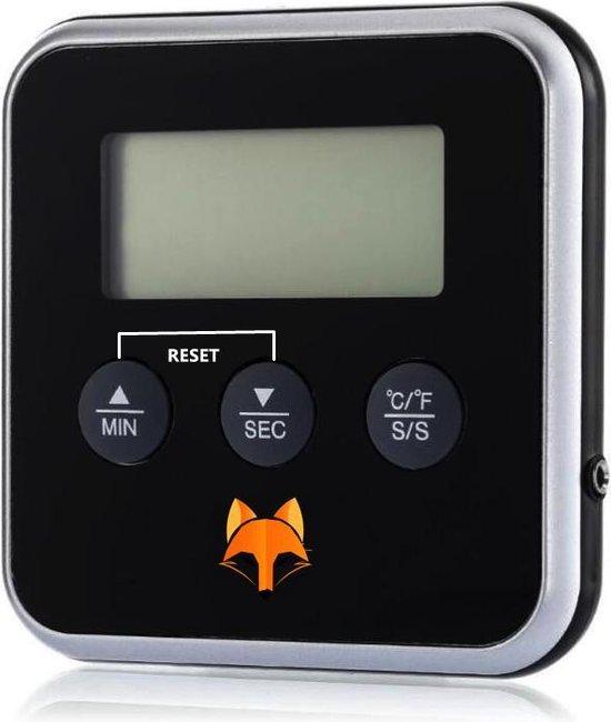 Speedy Fox Digitale kern thermometer - Vlees thermometer - 2 in 1 Kookwekker - Inclusief Batterij