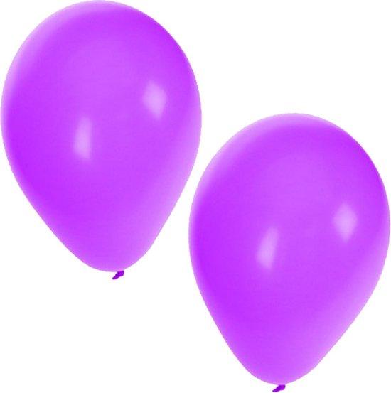 25x Paarse ballonnen - 27 cm - ballon paars voor helium of lucht