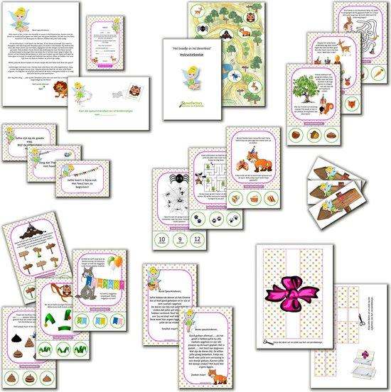 Thumbnail van een extra afbeelding van het spel Speurtocht voor kinderen - Het Boselfje en het dierenfeest  - 4 t/m 6 jaar - kinderfeestje - speurtocht - speurpakket