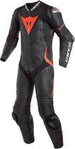 Dainese Laguna Seca 4 Perf. Black Black Fluo Red 1 Piece Motorcycle Suit 48