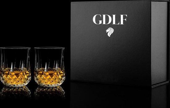 Whisky Glazen Vintage set van 2 in geschenkdoos by GDLF
