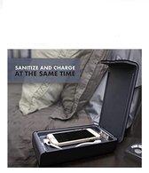 Witte UV sterilizer en oplader  apparaat voor telefoon,ringen,oorbellen,oordoppen en horloges