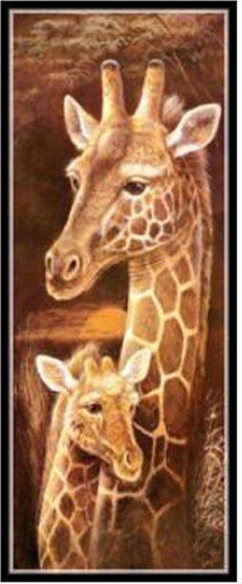 Diamond Painting Sepia Schilderijen - 25x55cm - Giraf