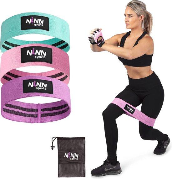 NINN Sports - Weerstandsbanden set van 3 Pastel - Bootybands - Weerstandsband - Resistance bands - Fitnessband