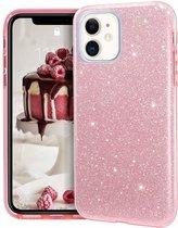 Ntech Apple iPhone 11 Pro Glitter TPU Back Hoesje - Roze