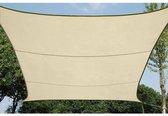 SCHADUWDOEK - WATERDOORLATEND ZONNEZEIL - VIERKANT 5 x 5m, kleur: beige