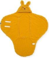Jollein Wikkeldeken Bunny - 100 x 105 cm - Mustard
