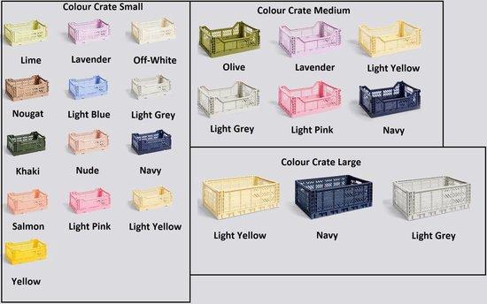HAY Colour Crate S Off-White Vouwkrat L26.5 * B17 * H10.5 Set van 6 stuks
