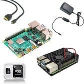 Raspberry Pi 4B 4GB Starter Kit met heatsink case