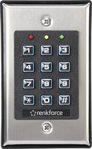 Renkforce 1582597 Codeslot Oppervlakmontage, Inbouw (in muur) Met verlicht toetsenbord