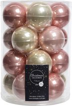 Glas Kerstballen Mix (6cm) Box 20 Stuks Pink