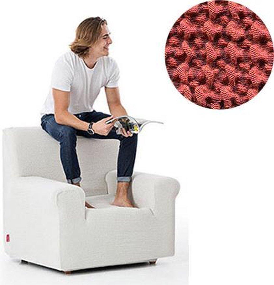 Milos meubelhoezen - Hoes voor fauteuil 70-110cm - Steenrood - Verkrijgbaar in verschillende kleuren!