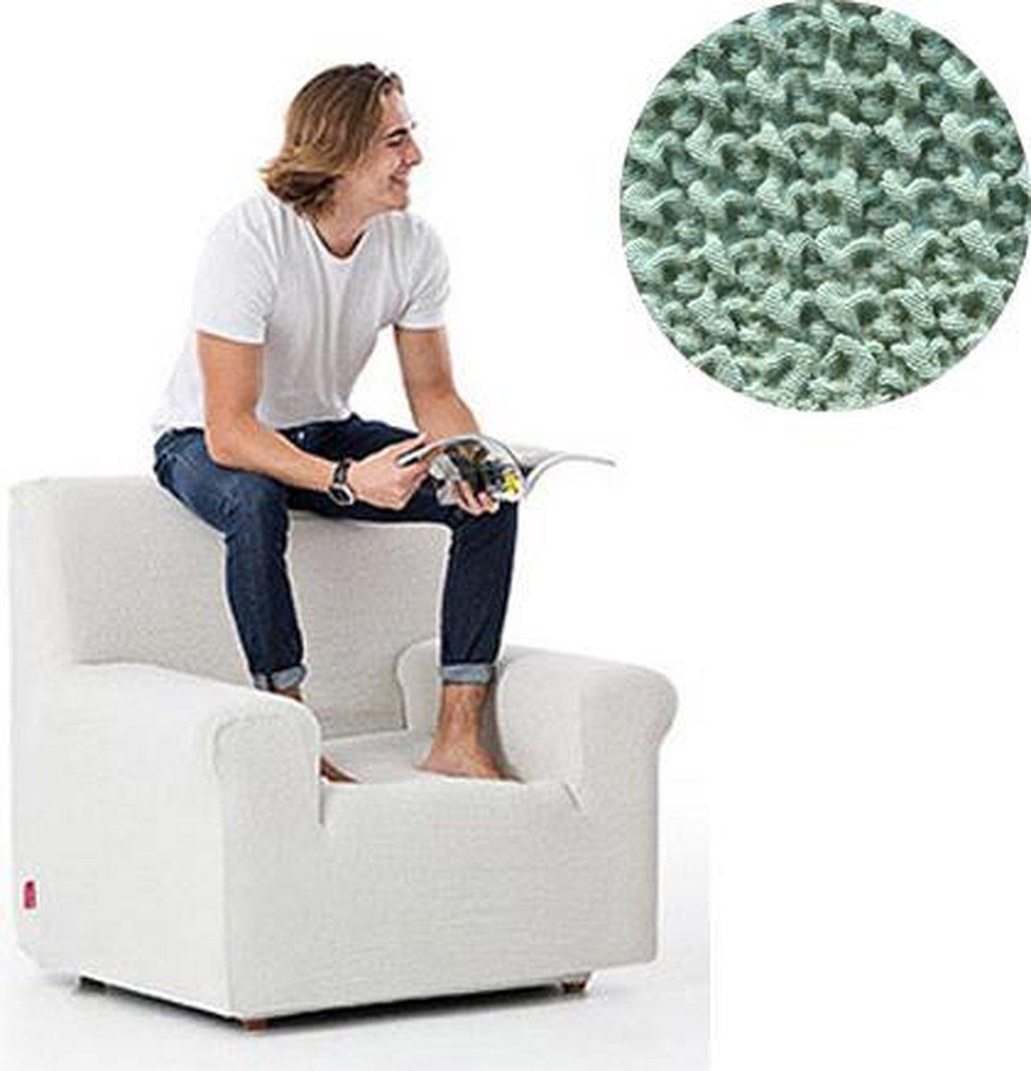 Milos meubelhoezen - Hoes voor fauteuil 70-110cm - Mint - Verkrijgbaar in verschillende kleuren!