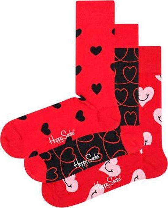 3x Happy Socks Love Geschenkset   Maat 36-40