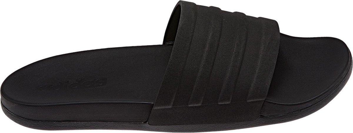 adidas CF Adilette Plus Mono Slippers Volwassenen - Black - Maat 44.5