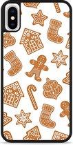 iPhone X Hardcase hoesje Christmas Cookies