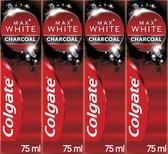 4x Colgate Max White Tandpasta Charcoal 75 ml