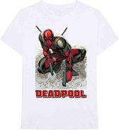 Marvel Deadpool Heren Tshirt -XL- Deadpool Bullet Wit