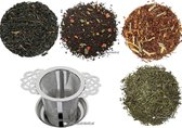 Startpakket losse thee met theefilter - 4 soorten - Thee cadeau