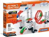 Clementoni - Actie & Reactie Starter Set - Constructiespeelgoed STEM Knikkerbaan - Experimenteerset