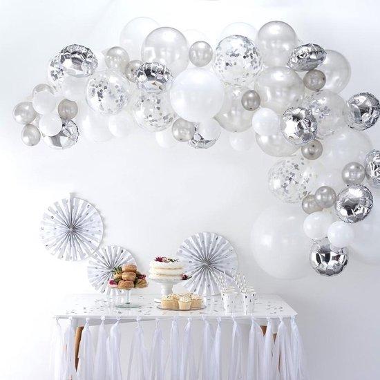 Ballonnenboog Kit - Zilver