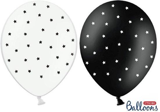 Strong Ballonnen Stars, 30cm, mix (1 zakje met 50 stuks)