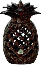 Lantaarn ananas - gietijzer - set van 2 stuks