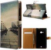 Seaside Trestle wallet hoesje Microsoft lumia 535