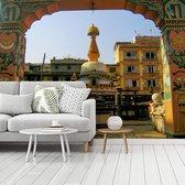 Kleurrijke foto van het Durbarplein fotobehang vinyl breedte 535 cm x hoogte 400 cm - Foto print op behang (in 7 formaten beschikbaar)