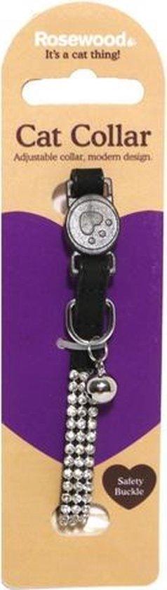 Halsband voor kat diamant 24x1,6 cm