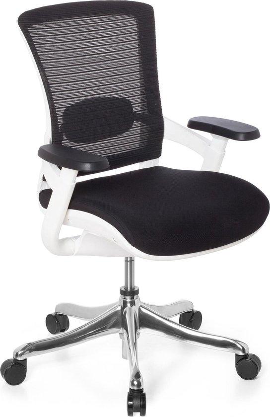 Bureaustoel Wit Leer Metalen Voet.Hjh Office Skate Style Bureaustoel Wit Zwart Bol Com