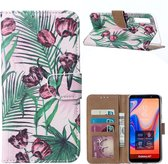 Xssive Hoesje Voor Samsung Galaxy A7 2018 - Book Case - Tulpen