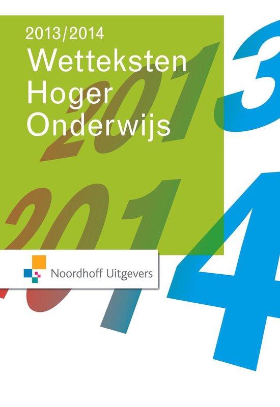 Wetteksten hoger onderwijs 2013-2014 - Onbekend |