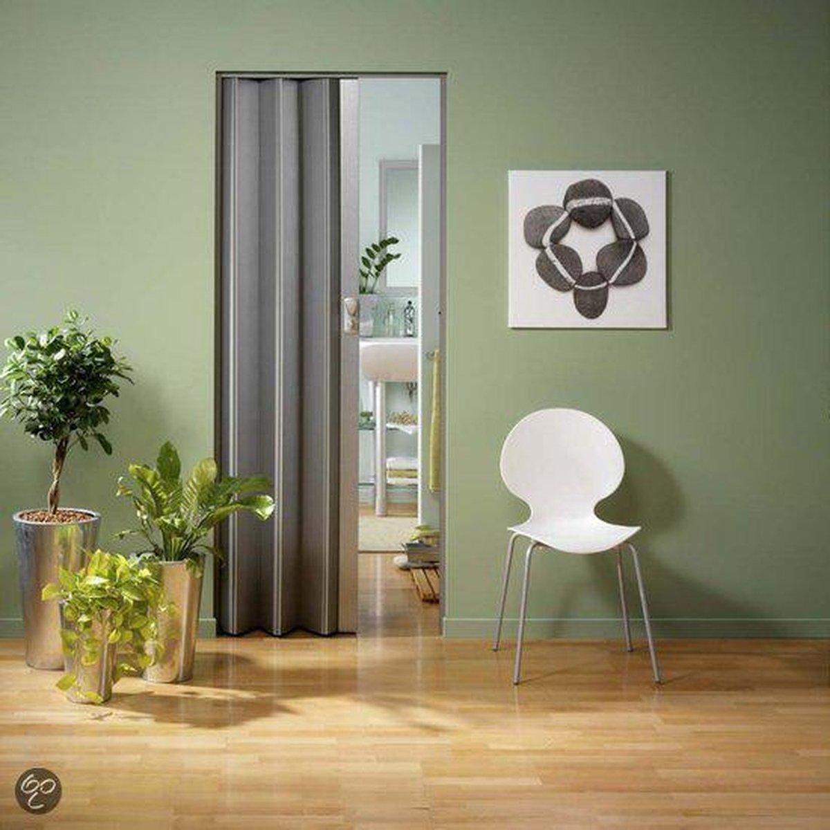 Vouwdeur Spacy  (Licht Aluminium kleur) 205x84 cm - Grosfillex