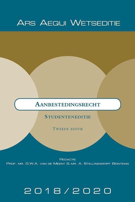 Ars Aequi Wetseditie - Aanbestedingsrecht 2018-2020 – Studenteneditie - none |