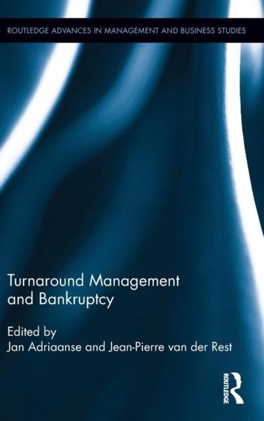Boek cover Turnaround Management and Bankruptcy van  (Hardcover)