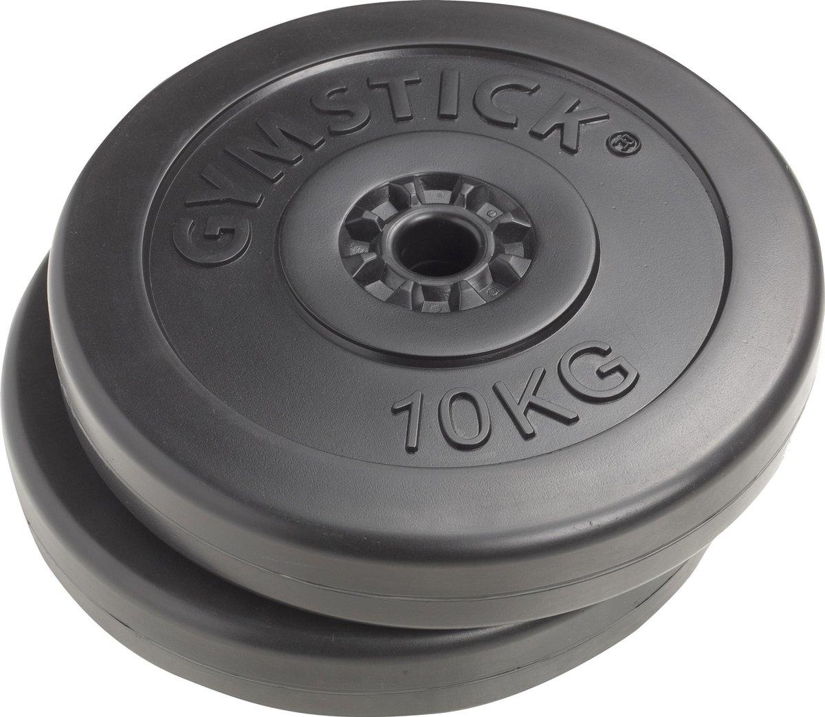 Gymstick Vinyl Schijven - Gewichten - 2 x 10 kg 30 mm - Gymstick