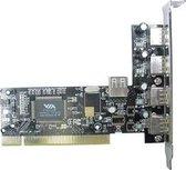 Lindy PCI USB Card interfacekaart/-adapter