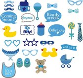 Babyshower jongen boy | Photobooth Prop set