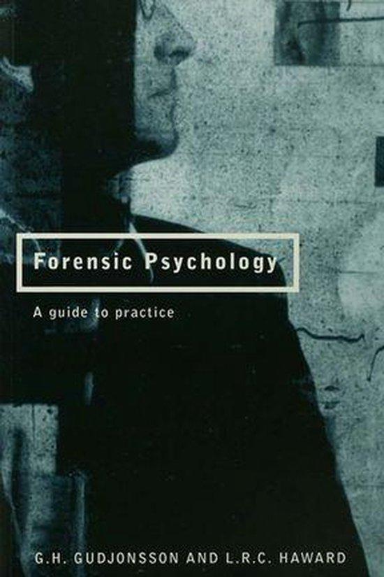 Boek cover Forensic Psychology van G.H. Gudjonsson (Onbekend)