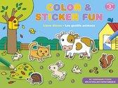Deltas Kleur- En Stickerboek Color & Sticker Fun: Lieve Dieren