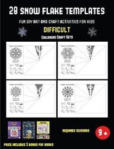 Childrens Craft Sets (28 snowflake templates - Fun DIY art and craft activities for kids - Difficult)
