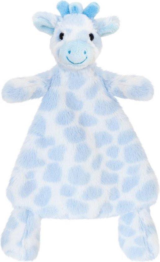 Keel Toys pluche tuttel giraf blauw giraffen babyknuffel 25 cm - knuffeldoekje knuffeldieren - Speelgoed voor kind