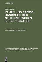 Yamen und Presse - Handbuch der neuchinesischen Schriftsprache, II. Abteilung, Deutscher Text