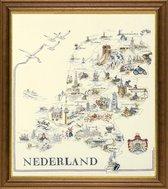 borduurpakket 33786 kaart van nederland