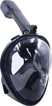 Snorkelmasker met Aansluiting voor GoPro – Maat S/M – Zwart – Beslaat Niet