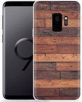 Galaxy S9 Hoesje Houten planken