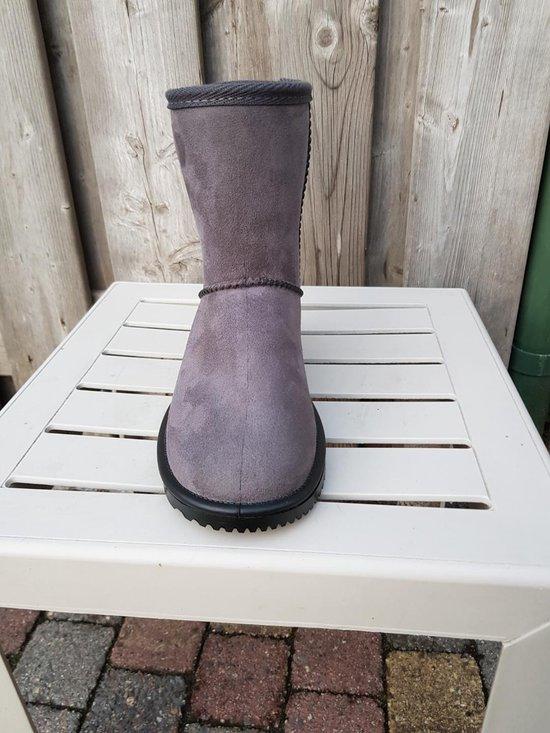 HKM Davos waterproof en bontgevoerde (stal)schoen  grijs maat 40