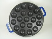 Relance Poffertjesplaat - 19 Poffertjes - geëmailleerd<br />gietijzer - blauw